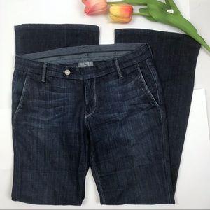 7FAMK Miller Trouser Flare Bell Bottom Jeans Dark